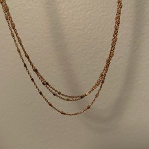 14k Rose gold choker. Perfect for the holidays.